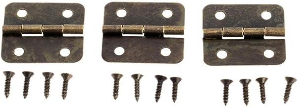 Nologo SSB-JIAJUPJ, 12st 30x26mm antieke deurscharnieren voor houten kabinet compartiment sieraden doos ijzer brons poppen...