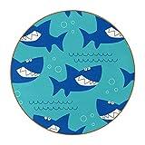 Juego de 6 posavasos redondos de 4.3 pulgadas, para tazas y tazas (juego de 6), diseño de tiburón marino