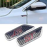 NA Etiqueta engomada de la Insignia del Metal de la Etiqueta engomada del Cuerpo del Coche de Aluminio 2pcs 3D con el Logotipo del ST para Ford Fiesta Mondeo Car Styling