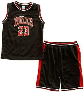 Little Boys Basketball Jersey 2-Piece Basketball Tank Top Shorts Set