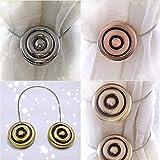 Reeseiy 1 Pieza Cortina Tieback Banda Magnética Moderna Atar Retenciones De Estilo Europeo Tiebacks (Oro) Diseño De Estilo del Mediterráneo Oriental Ornamento Rústico Pañuelo Accesorios De Montaje