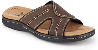 Mens Sunland Casual Slide Sandal Shoe, Dark Brown, 10 M