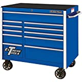 Extreme Tools RX412511RCBL Professional 11 Drawer Blue Roller Cabinet, 41-1/2'W x 25'D x 40-1/2'H