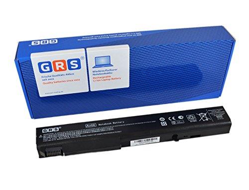 GRS Batterie pour HP EliteBook 8530 8540 8730 8740 ProBook 6545b remplacé: 458274-421 484788-001 493976-001 501114-001 HSTNN-LB60 HSTNN-OB60 HSTNN-XB60 KU533AA 4400mAh, 14.4V/ 63Wh