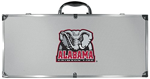 NCAA Siskiyou Sports Fan Shop Alabama Crimson Tide Steel Tailgater BBQ Set w/Case 8 piece Gray