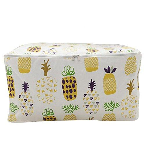 Livecity Dessin animé Motif Coton imperméable Vêtements de jouets Boîte à nourriture Décor L jaune