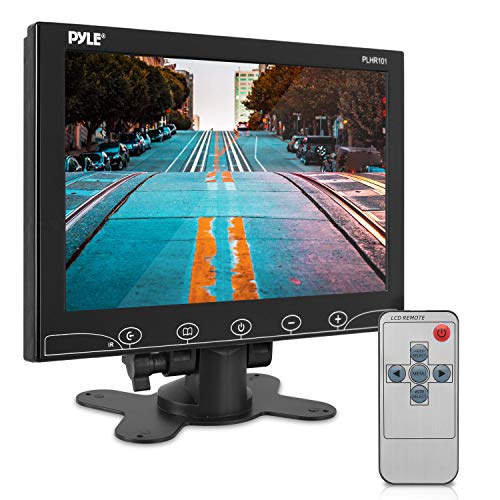 10-Inch Security Camera Monitor Screen - 1080p HD Widescreen Video Monitor Display w/HDMI RCA BNC VGA Input for Computer DVR FPV CCTV Cam Home Office Surveillance Raspberry Pi Gaming - Pyle PLHR101