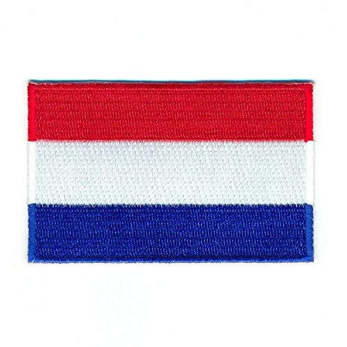 hegibaer 30 x 20 mm Niederlande Flagge Flag Amsterdam Patch Aufnäher Aufbügler 1000 Mini
