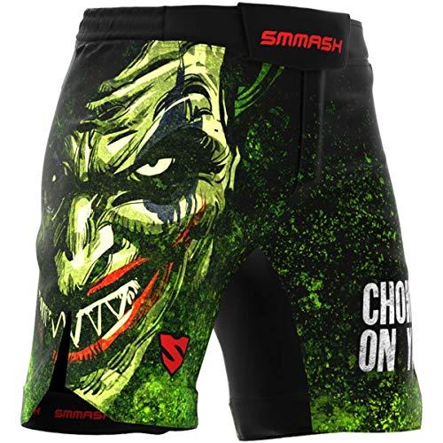SMMASH The Choker Herren Sport Shorts für Boxen, Kampfsport, MMA, Thaiboxen Training Ultra Light Sporthose Kurz für Männer, Crossfit Trainingshose Atmungsaktiv und Leicht, Hergestellt in der EU (L)
