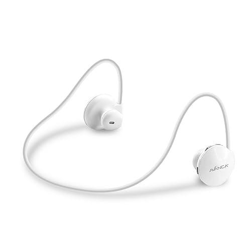 Avanca S1 Wireless Headset Sport avec Bluetooth 3.0 et jetable Berühr opération blanche