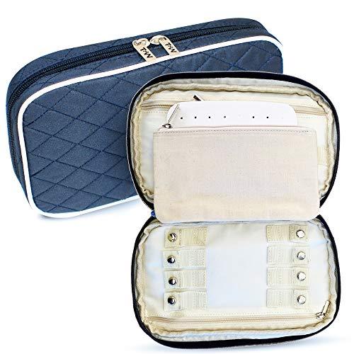Travel-Wizz Organizador de joyas de viaje Ligero y compacto. Fácil de guardar...