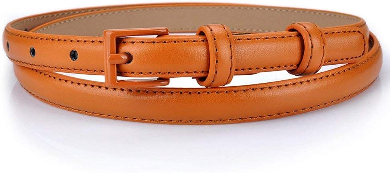 """BGRFEB Women's belt ladies belt Leather belt  Twolayer cowhide  0.6""""Wide  (color   Camel)"""