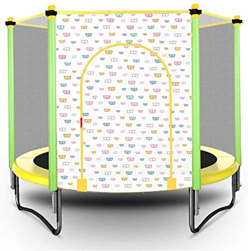 KYLL Faltbare Kinder Trampolin Indoor und Outdoor-Mini-Trampolin Bungee Jumping mit Schutznetz Trampolin (Color : Yellow)