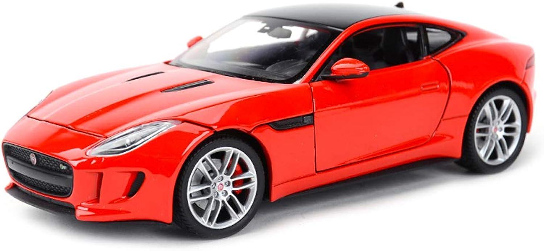 SXETModel car Model Car Alloy Model Car Collection Model 1 24 Jaguar FType Coupe Sports Car Model Toy Car Model (color   RED)