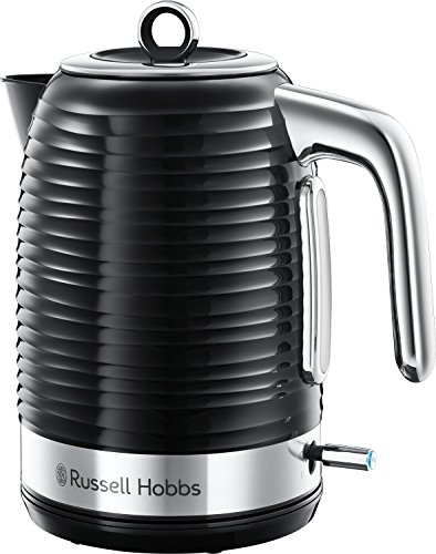 Russell Hobbs 24361 Inspire Electric Fast Boil Kettle, 3000 W, 1.7 Litre, Black with Chrome Accents