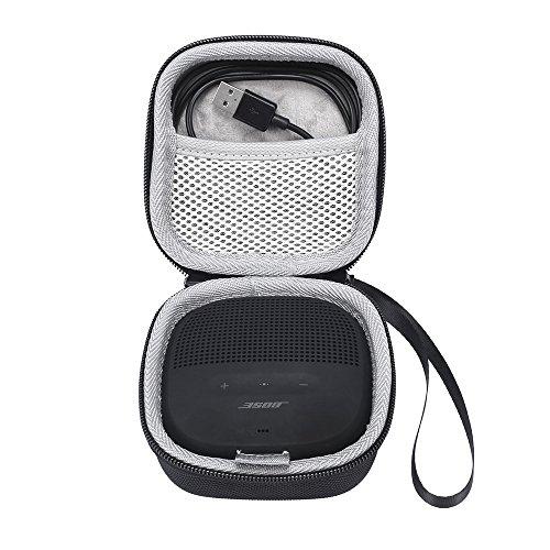 Esimen Hard Travel Housse de Rangement pour Haut-Parleur Bose SoundLink Micro Bluetooth - Convient au câble USB et à d'autres Accessoires (Noir)