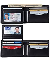 Alpine Swiss RFID Connor Passcase Bifold Wallet For Men Leather Comes in a Gift Box Soft Nappa Black