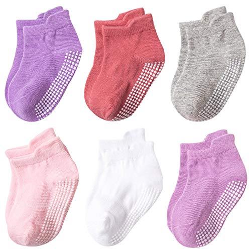 Pageantry6 Paar Baby Socken Kinder Baby Socken Anti Rutsch Socken Baby aus Baumwolle Baby Jungen Kleinkind rutschfeste Socken für