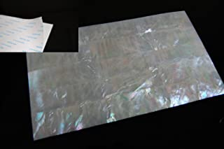 White Mother-of-Pearl (MOP) Shell Adhesive Veneer Sheet
