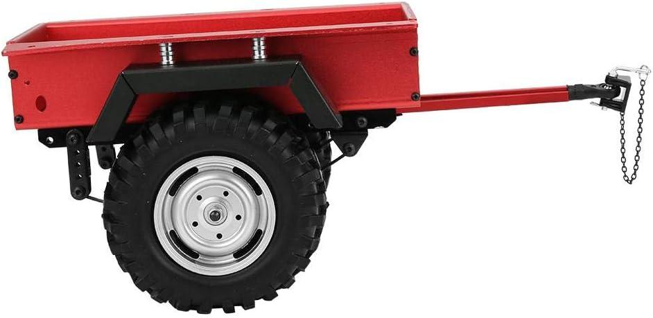 Dilwe 1//10 /échelle RC Voiture attelage remorque en Alliage daluminium adapt/é pour TRAXXAS TRX4 TRX6 RC Voiture Rouge