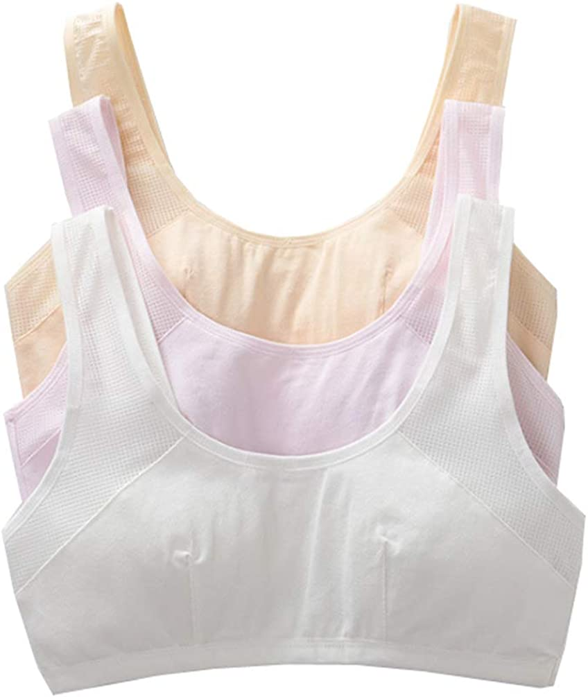 10-16 Years Girl's Lace Edage Training Bras with Removable Padding Bralette Set