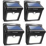 Neloodony Lámparas Solares Inalámbricas con Sensor de Movimiento 28 Ledes