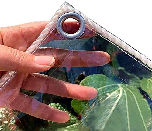 KLZWCP Lona De Jardin Jardín Exterior Protección contra La Lluvia Resistencia Al Desgarro Plástico Plegable,para Plantas Invernadero Pet Hutch Roof,0.3mm, Se Puede Personalizar El Tamaño