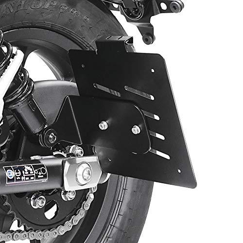 Kennzeichenhalter seitlich Kompatibel für Honda Rebel 500 17-21 schwarz