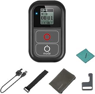 Shoot XTGP183 - Mando a Distancia WiFi Impermeable para cámaras GoPro Hero 7 6 5 4 3+ 3 para cámaras GoPro Hero con Cable de Carga Correa de Mano Clip de Metal Bolsa de Tela
