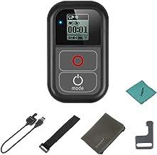 Shoot XTGP183 - Mando a Distancia WiFi Impermeable para cámaras GoPro Hero 7, 6, 5, 4, 3+ 3 para cámaras GoPro Hero con Cable de Carga, Correa de Mano, Clip de Metal, Bolsa de Tela