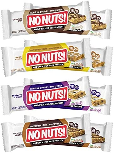 No Nuts 100 Nut Free Dairy Free Vegan Protein Bars Variety 8 Pack Organic Kosher Egg Free Non product image