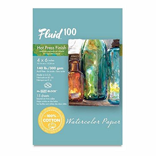 Fluid 100 Hot Press Watercolor Paper - 140lb 300gsm