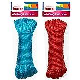 Around The Home Cuerda de polipropileno resistente para tender la ropa, exteriores y usos múltiples...