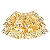 Somlatrecy Metallic Little Girls Skirts Gold Glitter Skirt Shinny Kids Skater Skirt for 1-12 Y(Gold, 6Year)