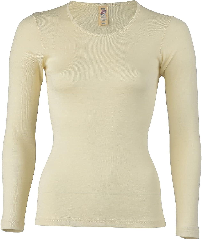 Women's Thermal Base Layer Top - Lightweight Moisture Wicking Organic Merino Wool Silk Undershirt