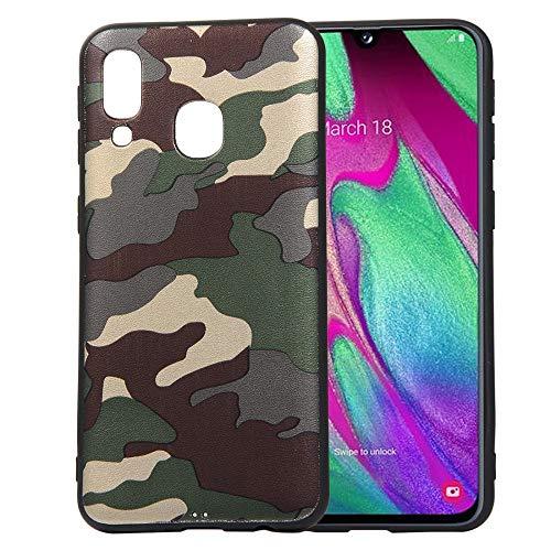 jbTec TPU-Case Handy-Hülle Camouflage passend für Samsung Galaxy A40 - Schutz-Hülle Silikon-Hülle Cover Tasche Bumper, Farbe:Grün