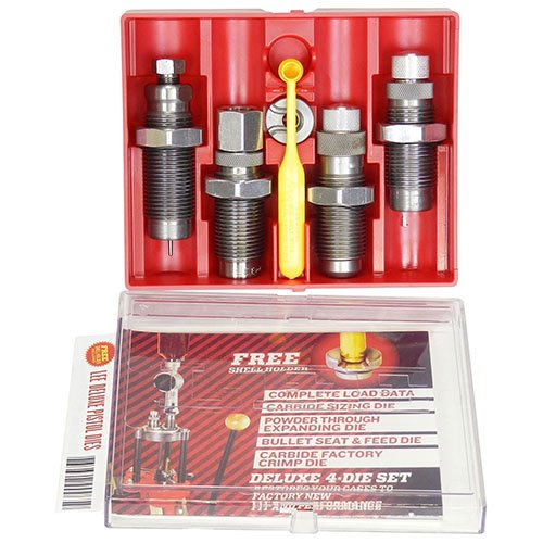 LEE PRECISION 90963 9-mm Carbide 4-Die Set Luger (Grey)