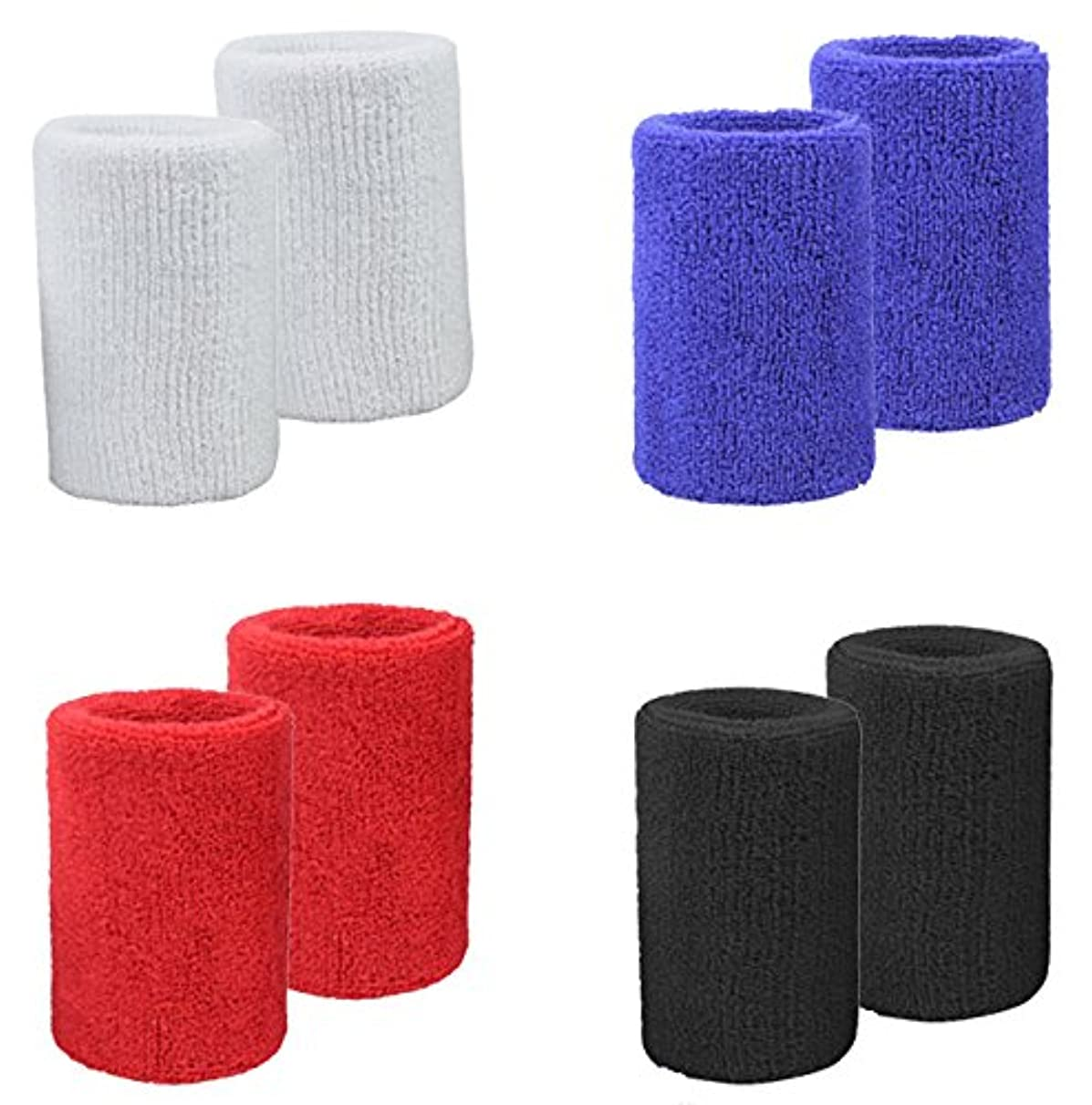 MAKLULU Sports & Outdoors Double Sweat Wristbands 2 Ply Thickness Terry Cloth Moisture Wicking