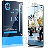 LK [3 Pack] Screen Protector for Samsung Galaxy S10, [Ultrasonic Fingerprint Compatible] [Easy Installation] Flexible Film HD Clear, Bubble Free