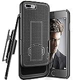 iPhone 8 Plus Belt Holster, Encased Thin Fit [DuraClip Series] Slim Grip Case & Belt Clip for Apple iPhone 8 Plus 5.5' (Smooth Black)