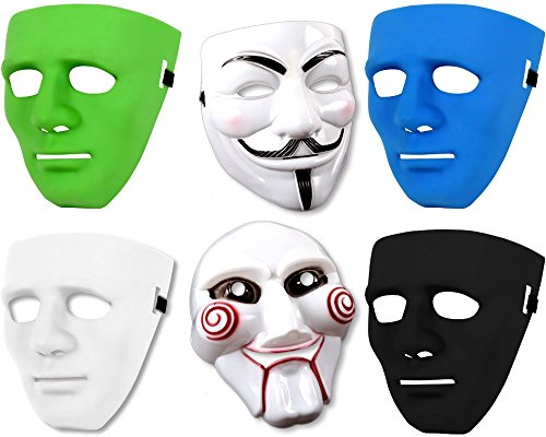 SZ-DESIGN Gangster Saw V wie Vendetta Maske Karneval Halloween Party Horror Skull Fasching (V wie Vendetta Maske)