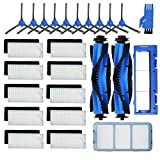 JoyBros 25-Pack Replacement Part Accessories Compatible for Eufy RoboVac 11S, RoboVac 15C, RoboVac 30, RoboVac 30C, RoboVac 12, RoboVac 35CPrimary/Filters, Side Brushes,Roller Brushes/Guard