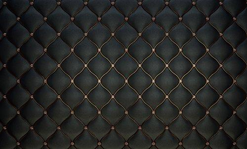 KONPON D-6596 Toile de fond en coton Motif tête de lit baroque Noir 250 x 150 cm