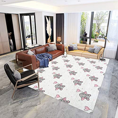 Not tapijten, Delft Blue Aquarel Traditionele Floral tegels, tapijten en tapijten, badtapijten, kindertapijten, 90 x 120 cm 90×120CM(2.9'×3.9') A03