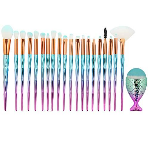 BIGBOBA Pinceau de Maquillage 21pcs Pinceau de Maquillage du Visage Idéal pour Les Maquilleurs Professionnels et Les Débutants