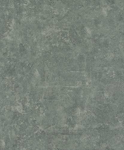 rasch Tapete 467550 aus der Kollektion Vincenza – Vliestapete in Grau im Beton-Design – 10,05m x 53cm (L x B)