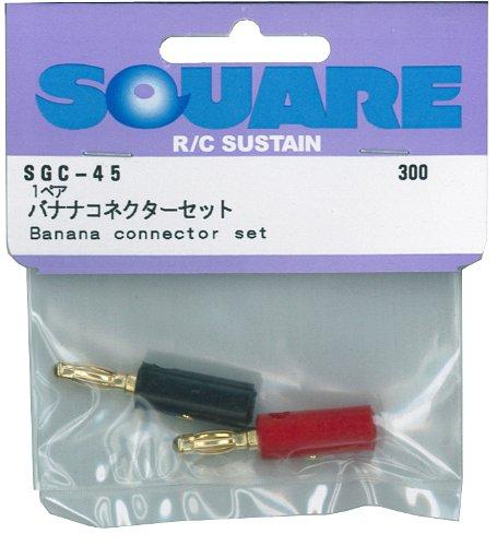 バナナコネクターセット (赤、黒) ゴールドプラグ SGC-45