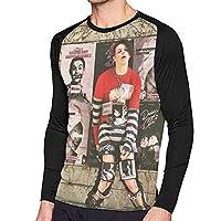 Pin Di Arianna メンズ Tシャツ ラグラン 長袖 クルーネック ベースボールシャツ 吸汗速乾 無地 カジュアル スポーツ トップス