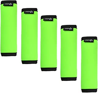 Cosmos ® 5 Pieces Fluorescence Green Comfort Neoprene Handle Wraps/Grip/Identifier for Travel Bag Luggage Suitcase