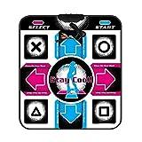 ShunFuET Happy Dance Pad Matte, rutschfest, verschleißfest, DDR USB Dance Pad Controller mit USB-Kabel, Fitness Bodybuilding Tanzmatte Kompatibel mit PC...